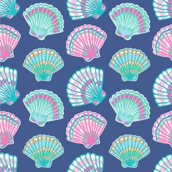 Preppy Sea Shells Wallpaper & Surface Covering