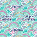 Preppy Sea Shells Wrapping Paper (Personalized)
