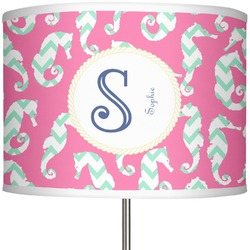 "Sea Horses 13"" Drum Lamp Shade (Personalized)"