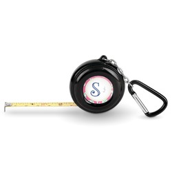 Sea Horses Pocket Tape Measure - 6 Ft w/ Carabiner Clip (Personalized)