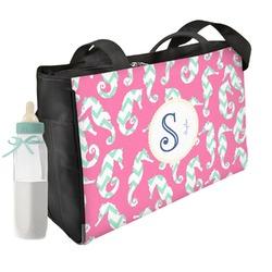 Sea Horses Diaper Bag w/ Name and Initial