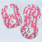 Sea Horses Baby Bib & Burp Set w/ Name and Initial
