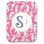 Sea Horses Baby Swaddling Blanket (Personalized)