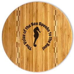 Sea Horses Bamboo Cutting Board (Personalized)