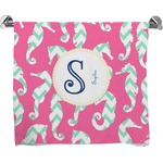 Sea Horses Full Print Bath Towel (Personalized)