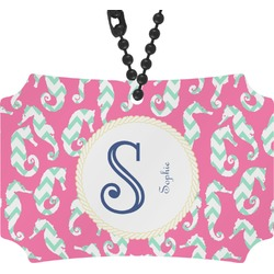 Sea Horses Rear View Mirror Ornament (Personalized)