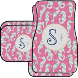 Sea Horses Car Floor Mats Set - 2 Front & 2 Back (Personalized)