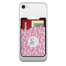 Sea Horses 2-in-1 Cell Phone Credit Card Holder & Screen Cleaner (Personalized)