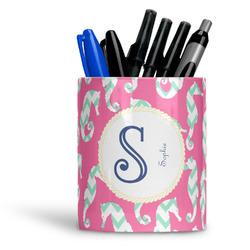 Sea Horses Ceramic Pen Holder