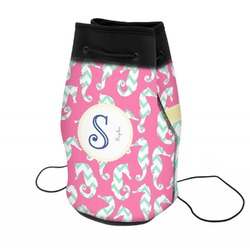 Sea Horses Neoprene Drawstring Backpack (Personalized)