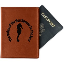 Sea Horses Leatherette Passport Holder (Personalized)