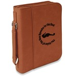 Sea Horses Leatherette Book / Bible Cover with Handle & Zipper (Personalized)