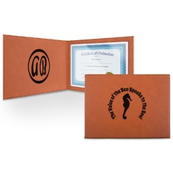 Sea Horses Leatherette Certificate Holder (Personalized)