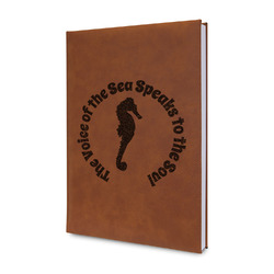 Sea Horses Leatherette Journal (Personalized)