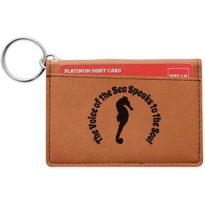 Sea Horses Leatherette Keychain ID Holder (Personalized)