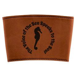 Sea Horses Leatherette Mug Sleeve (Personalized)