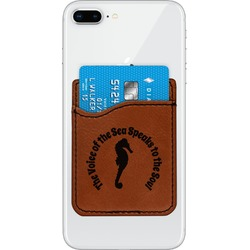 Sea Horses Leatherette Phone Wallet (Personalized)