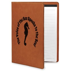 Sea Horses Leatherette Portfolio with Notepad (Personalized)