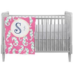 Sea Horses Crib Comforter / Quilt (Personalized)