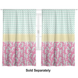 "Sea Horses Curtains - 40""x63"" Panels - Lined (2 Panels Per Set) (Personalized)"
