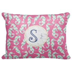 "Sea Horses Decorative Baby Pillowcase - 16""x12"" (Personalized)"