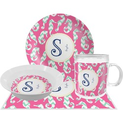 Sea Horses Dinner Set - 4 Pc (Personalized)