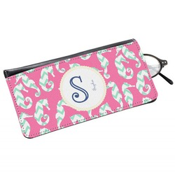 Sea Horses Genuine Leather Eyeglass Case (Personalized)