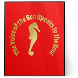 Sea Horses 8x10 Foil Wall Art - Red (Personalized)