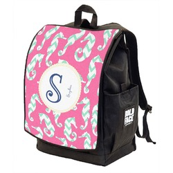 Sea Horses Backpack w/ Front Flap  (Personalized)