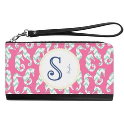 Sea Horses Genuine Leather Smartphone Wrist Wallet (Personalized)