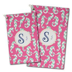 Sea Horses Golf Towel - Full Print w/ Name and Initial