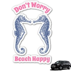 Sea Horses Graphic Car Decal (Personalized)