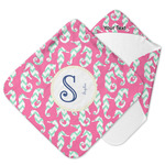 Sea Horses Hooded Baby Towel (Personalized)
