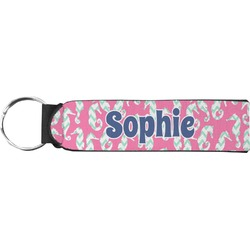 Sea Horses Neoprene Keychain Fob (Personalized)