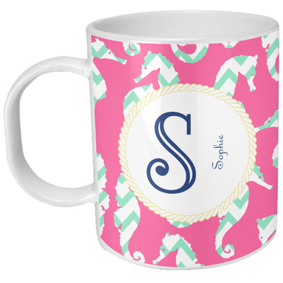 Sea Horses Plastic Kids Mug (Personalized)