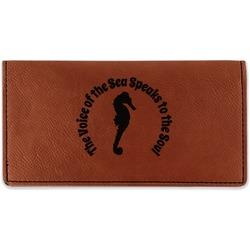 Sea Horses Leatherette Checkbook Holder (Personalized)