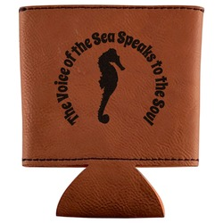 Sea Horses Leatherette Can Sleeve (Personalized)