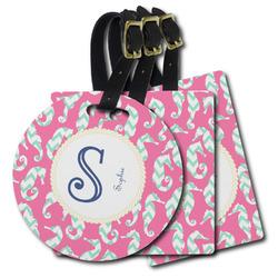 Sea Horses Plastic Luggage Tags (Personalized)