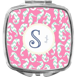 Sea Horses Compact Makeup Mirror (Personalized)