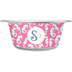 Sea Horses Stainless Steel Pet Bowl (Personalized)