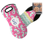 Sea Horses Neoprene Oven Mitt (Personalized)