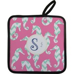 Sea Horses Pot Holder w/ Name and Initial