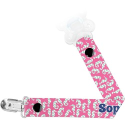Sea Horses Pacifier Clips (Personalized)