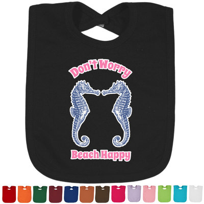 Sea Horses Baby Bib - 14 Bib Colors (Personalized)