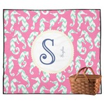 Sea Horses Outdoor Picnic Blanket (Personalized)