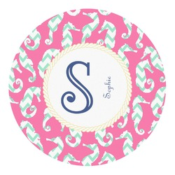 Sea Horses Round Decal (Personalized)