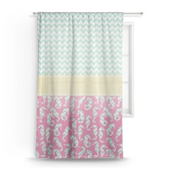 Sea Horses Sheer Curtains (Personalized)