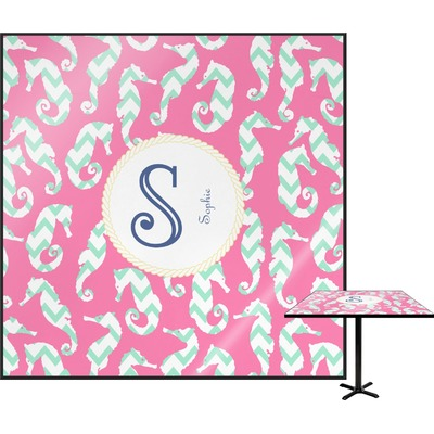 Sea Horses Square Table Top (Personalized)