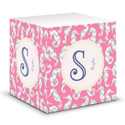 Sea Horses Sticky Note Cube (Personalized)