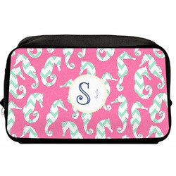 Sea Horses Toiletry Bag / Dopp Kit (Personalized)